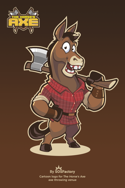 Mascot character horse