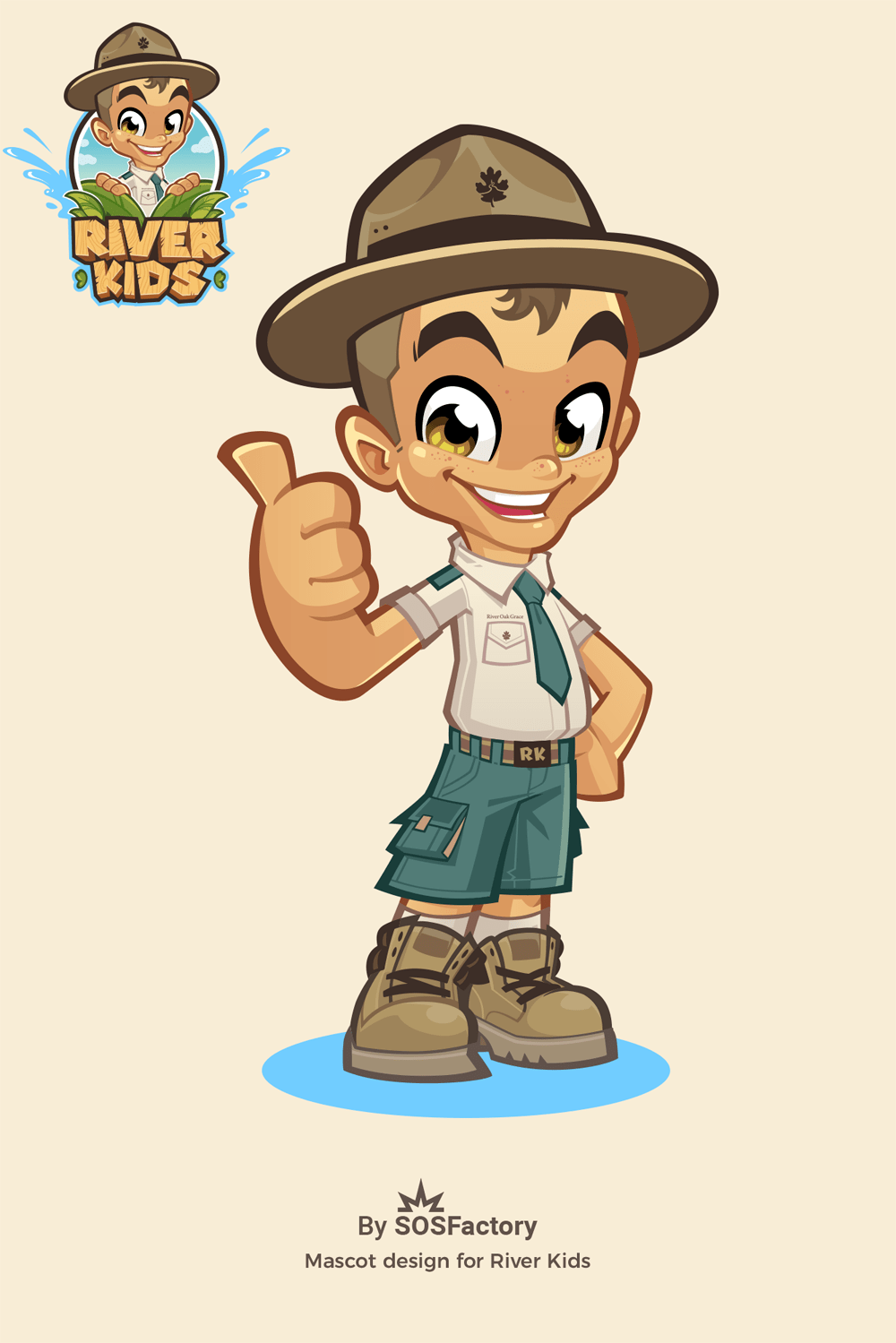 Mascot design Ranger boy