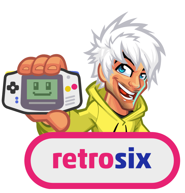 retrosix cartoon logo design-bga