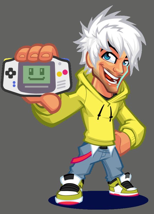 retrosix mascota logo gameboy advance