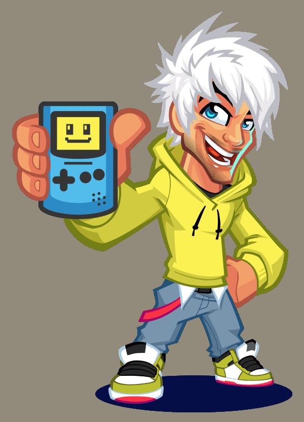 retrosix mascota logo gameboy color