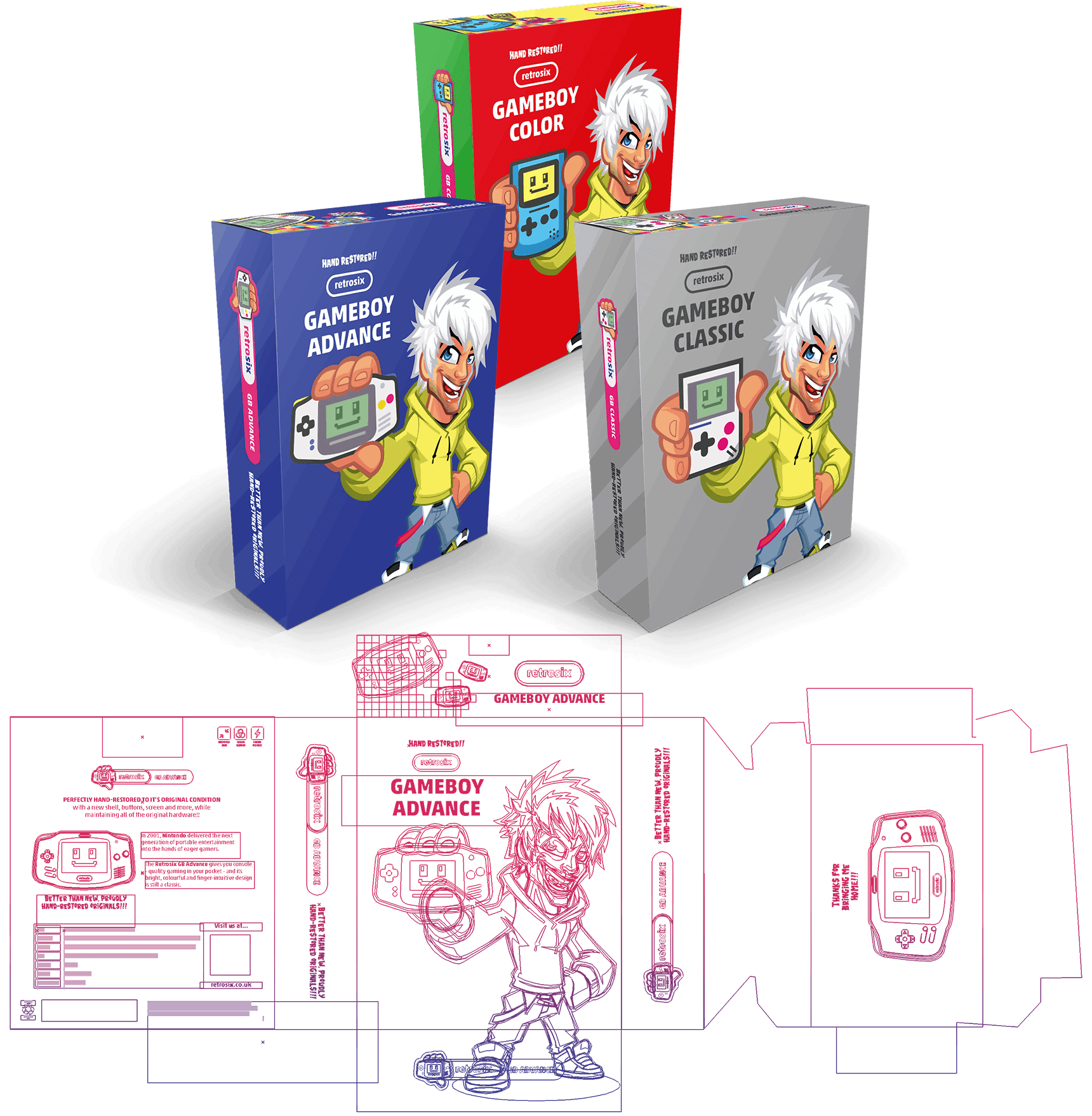 retrosix packaging