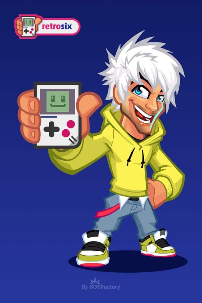 gaming mascot design Retrosix
