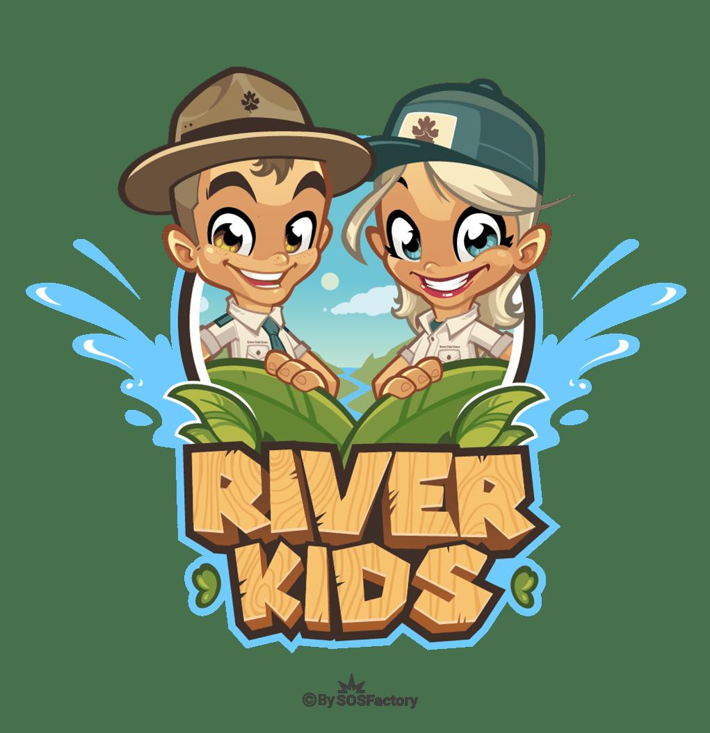Logo design river kids