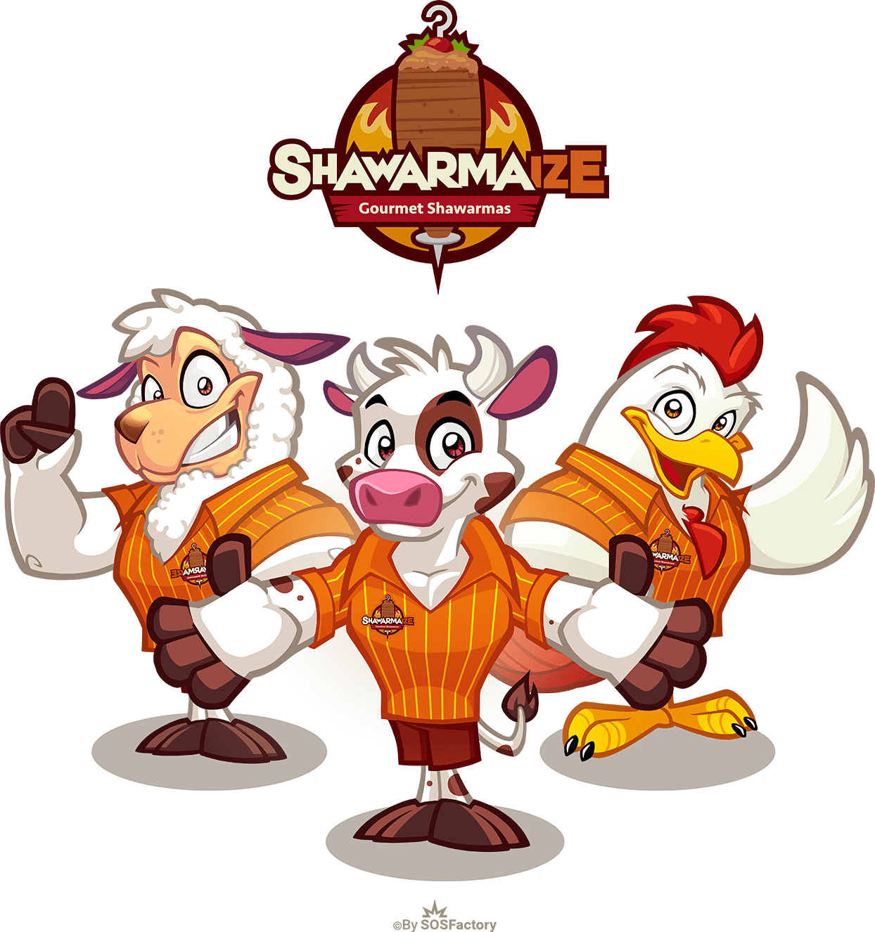 mascota logo fast food