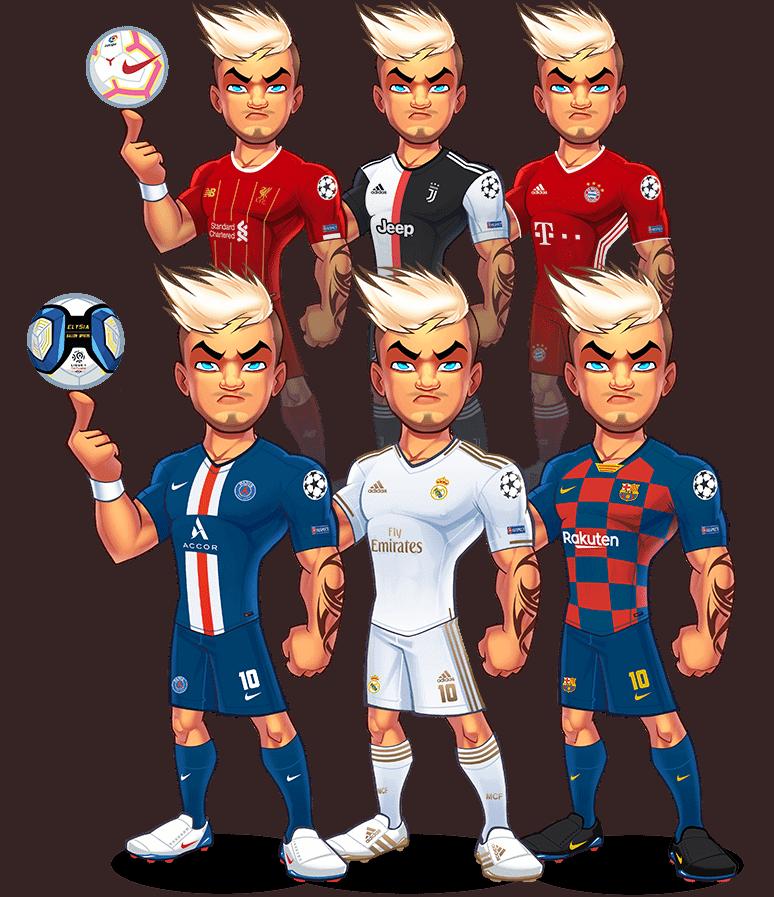 Avatares de futbol